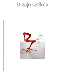 dizájn székek